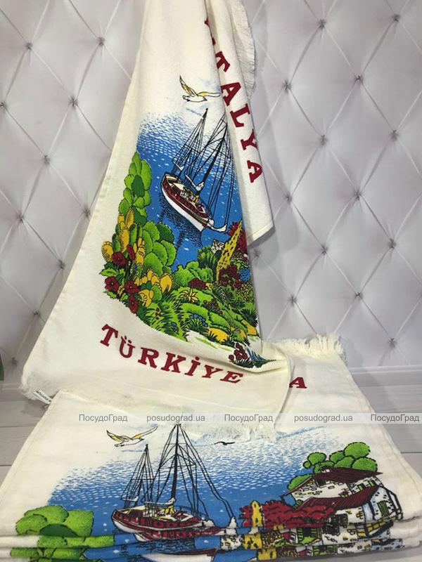 Набір 12 кухонних рушників Art of Sultana Antalya Harbor 40х60 махра/велюр