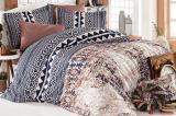 Комплект постельного белья Nazenin Estrella Royal Евро (4 наволочки), сатин