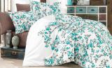 Комплект постельного белья Nazenin Begonia Mavi Евро (4 наволочки), сатин