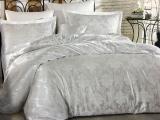 Комплект постельного белья Nazenin Liza Beyaz Евро (4 наволочки) белый, жаккардовый сатин
