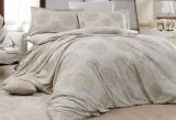 Комплект постельного белья Nazenin Lavida Bej Евро (4 наволочки) бежевый, жаккардовый сатин