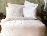 Комплект постельного белья Pupilla Vita Beyaz Евро (4 наволочки), сатин с 3D вышивкой