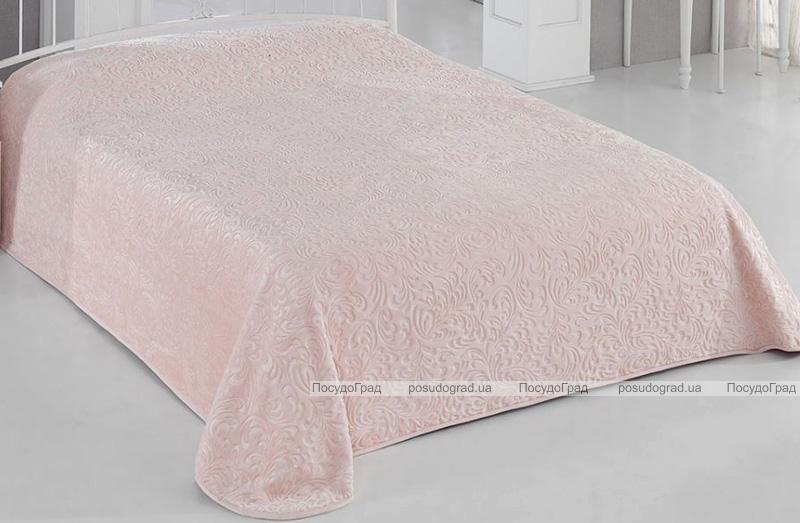 Плед Aksu 220х240 Евро розовый, велюр
