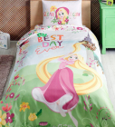 Детское постельное белье TAC Disney Рапунцель полуторный, ранфорс