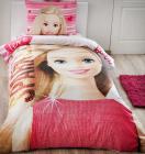 Детское постельное белье TAC Disney Barbie полуторный, ранфорс