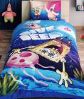 Детское постельное белье TAC Disney Спанч Боб полуторный, ранфорс