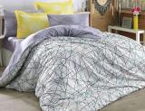 Комплект постельного белья Hobby 4710 Евро, поплин (100% хлопок)