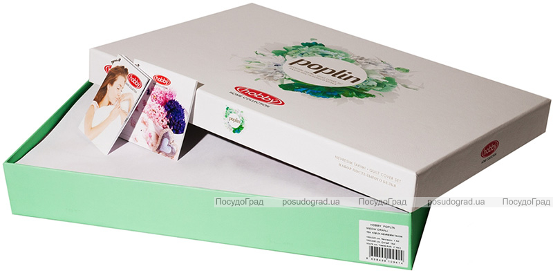 Комплект постельного белья Hobby 4850 Евро, поплин (100% хлопок)