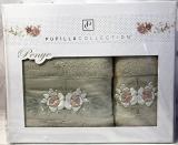 Набор полотенец Pupilla Eva Roses-I, лицевое 50х90см и банное 70х140см