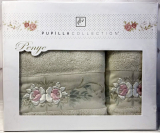 Набір рушників Pupilla Eva Roses-II, лицьовий 50х90см і банний 70х140см