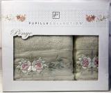 Набор полотенец Pupilla Eva Roses-II, лицевое 50х90см и банное 70х140см