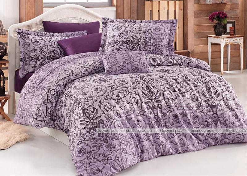 Комплект постельного белья Nazenin Bolero Lila Евро (4 наволочки), сатин