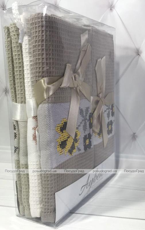 Набор 6 кухонных полотенец Ayben M4800 45х70, вафельные
