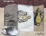 Набор 3 кухонных полотенца Ayben M4804 35х50, вафельные