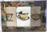 Набір 3 кухонних рушника Ayben M4805 35х50, вафельні