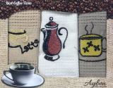 Набір 3 кухонних рушника Ayben M4807 35х50, вафельні
