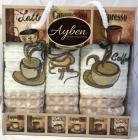 Набір 3 кухонних рушника Ayben M4808 35х50, вафельні