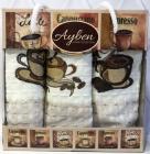 Набор 3 кухонных полотенца Ayben M4810 35х50, вафельные