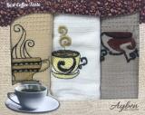 Набор 3 кухонных полотенца Ayben M4811 35х50, вафельные