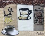Набор 3 кухонных полотенца Ayben M4812 35х50, вафельные