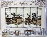 Набір 6 кухонних рушників Ayben M4813 45х70см, вафельні