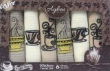 Набір 6 кухонних рушників Ayben M4814 35х50, вафельні