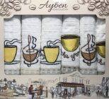 Набір 6 кухонних рушників Ayben M4826 45х70, вафельні
