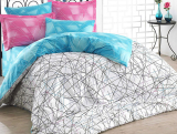 Комплект постельного белья Hobby 4849 Евро, поплин (100% хлопок)