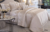Покривало Pepper Home Linzy Gold 270х260см з наволочками і декоративними подушками, сатин