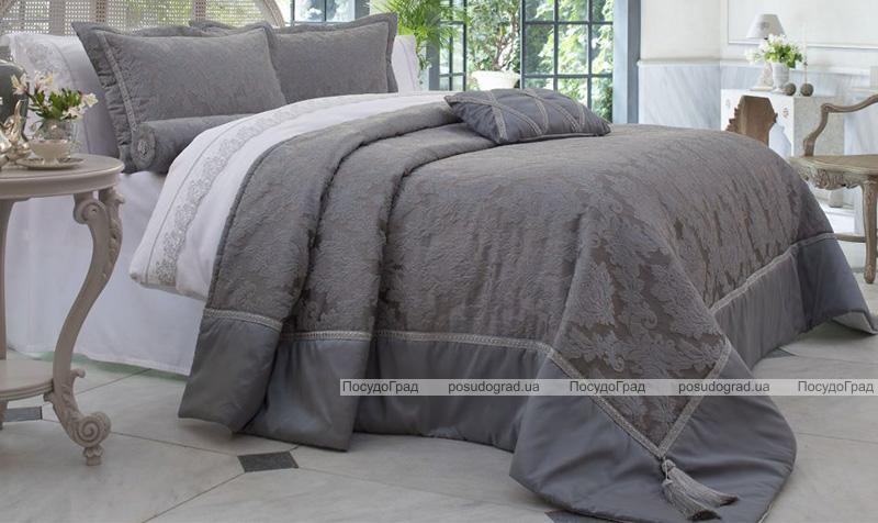 Покривало Pepper Home Claudia 270х260см з наволочками і декоративними подушками, жаккард