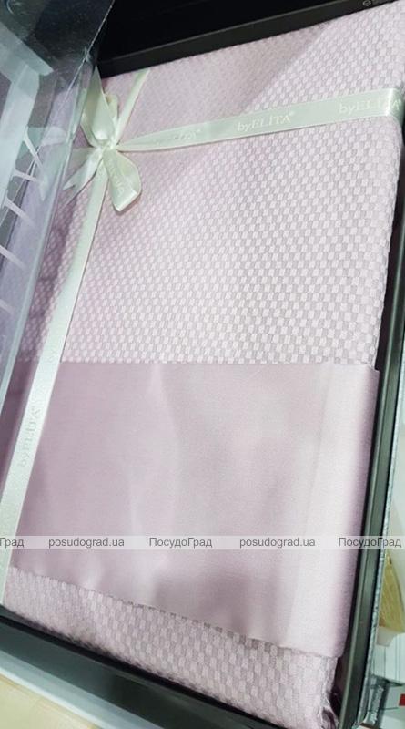 Комплект постільної білизни Elita Ekru Євро сірувато-бежевий (4 наволочки), жакардовий бамбук з сатином