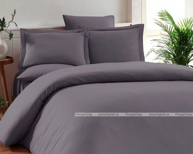 Комплект постельного белья Elita Gray Евро серый (4 наволочки), жаккардовый бамбук с сатином