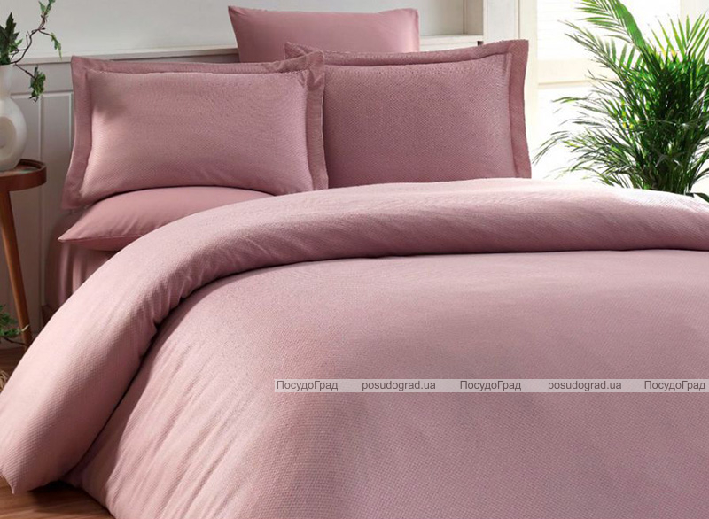 Комплект постельного белья Elita Pudra Евро розовый (4 наволочки), жаккардовый бамбук с сатином