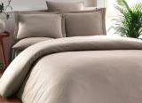 Комплект постельного белья Elita Vizon Евро кофейный (4 наволочки), жаккардовый бамбук с сатином