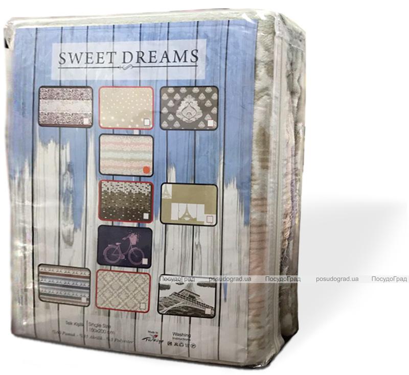 Плед Sweet Dreams 150х200 Полуторный М16022, хлопок