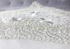 Скатертина Isadora Sumeya White 160х220см з мереживами і декоративною вишивкою, біла