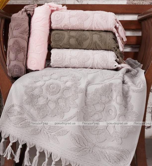 Набор 6 полотенец Sikel 50х90см (лицевые) с бахромой, хлопок
