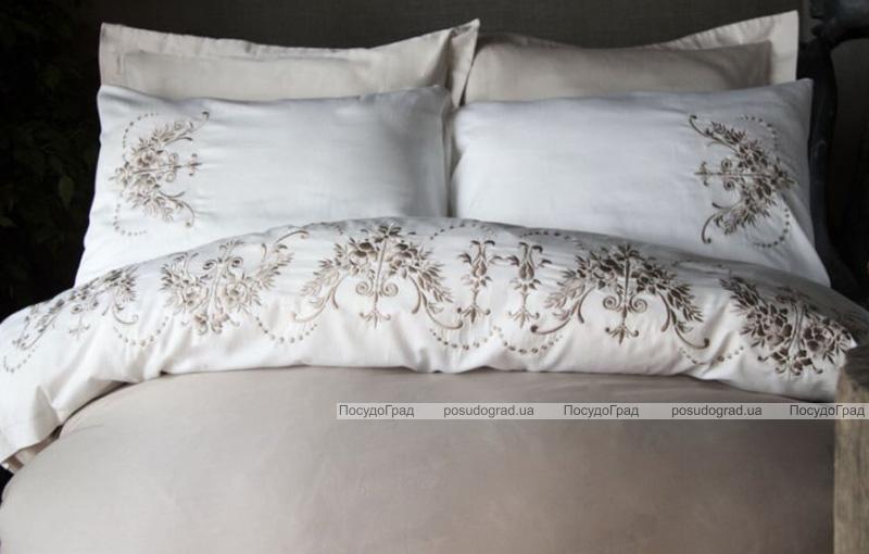 Комплект постельного белья Pupilla Glory Евро (4 наволочки), сатин с 3D вышивкой