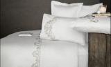 Комплект постельного белья Pupilla Pier Ekru Евро (4 наволочки), сатин с 3D вышивкой