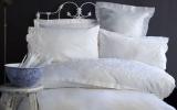 Комплект постельного белья Pupilla Swam Евро (4 наволочки), сатин с 3D вышивкой