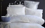 Комплект постільної білизни Pupilla Swam Євро (4 наволочки), сатин з 3D вишивкою