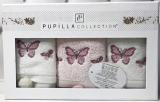 Набор 3 кухонных полотенца Pupilla Bamboo «Butterfly» 30х50см
