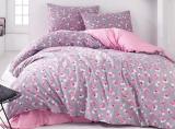Комплект постельного белья Marie Claire Pink Flower Евро, ранфорс