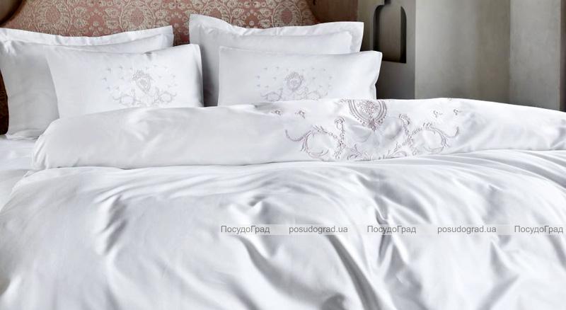 Комплект постельного белья Pepper Home Pia Bej (евро) сатин с вышивкой