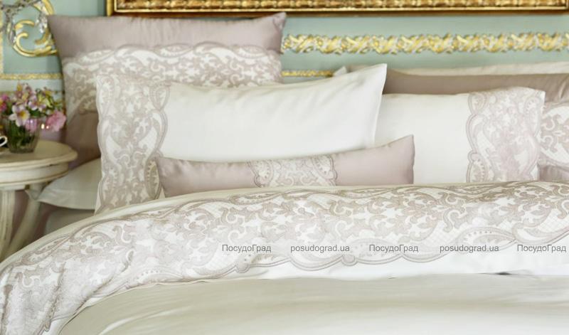 Комплект постельного белья Pepper Home Alexis Pembe (евро) сатин с вышивкой и кружевами