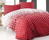Комплект постельного белья Marie Claire Peas Red Евро, ранфорс