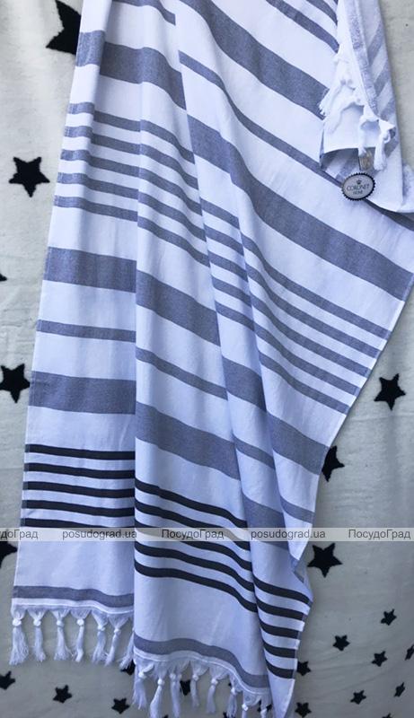 Рушник пляжний Art of Sultana Grey Stripes 90х170см