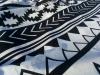 Полотенце пляжное Art of Sultana «Black and white» круглое Ø150см, махра/велюр