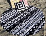 Рушник пляжний Art of Sultana «Black and white» круглий Ø150см, махра/велюр