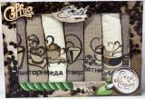 Набір 7 кухонних рушників Ayben M5624 40х60, вафельні